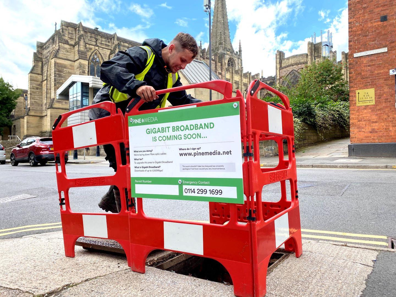 Pine Media engineer working in Sheffield